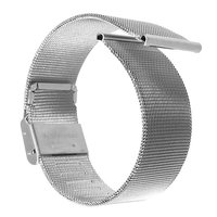 Плетеный металлический браслет для Apple Watch 38mm серебро