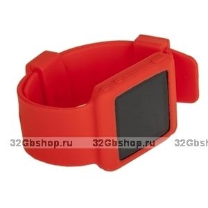 Силиконовый чехол браслет для iPod nano 6  красный