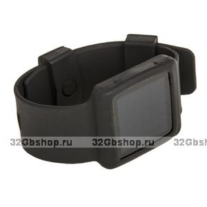 Силиконовый чехол браслет для iPod nano 6  черный