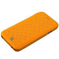 """Желтый кожаный чехол Jisoncase Executive Flip Case для iPhone 6 / 6s (4.7"""")"""