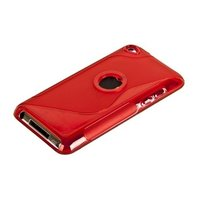 Силиконовый чехол для iPod touch 4 с отверстием под яблоко жесткий красный