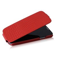 Кожаный чехол Borofone для Samsung Galaxy S4 - Borofone Crocodile Leather Case Red