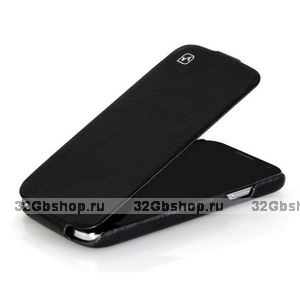 Кожаный чехол HOCO для Samsung Galaxy S4 - HOCO Duke flip Leather Case Black