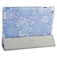 Чехол Jisoncase для iPad 4/ 3/ 2 голубой и белым узором