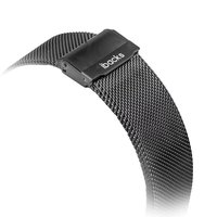 Металлический плетеный браслет iBacks для Apple Watch 38мм черный