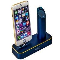 Алюминиевая док-станция для Apple Watch & iPhone синяя - COTEetCI