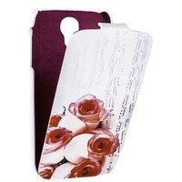 Чехол книжка Fashion для Samsung S4 красные розы