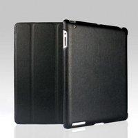 Кожаный чехол Jisoncase для iPad 4 / 3 / 2 черный