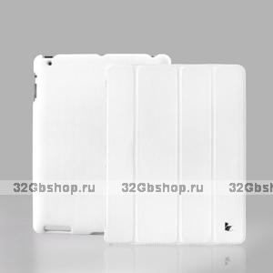 Кожаный чехол Jisoncase для iPad 4 / 3 / 2 белый