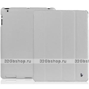 Кожаный чехол Jisoncase для iPad 4 / 3 / 2 серый