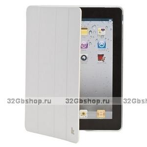 Кожаный чехол Jisoncase Executive для iPad 4 / 3 / 2 белый