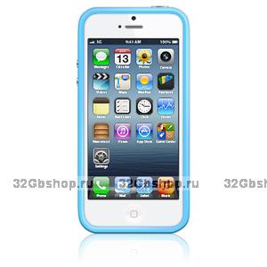 Оригинальный бампер Apple iPhone 5 / 5s / SE Bumper Blue