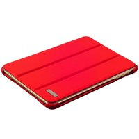 Красный кожаный чехол i-Carer Ultra-thin для iPad mini 3 /2 - i-Carer genuine leather series Red