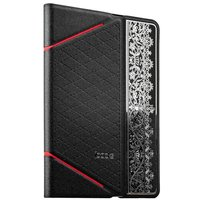Черный чехол книга с тесненнием iBacks для iPad mini 3 /2 - VV Structure Leather Case Nameplating Edition Black