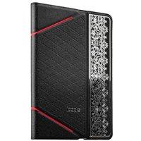 Черный чехол книга с тесненнием iBacks для iPad mini 3 /2 - VV Structure Leather Case Nameplating Edition Black