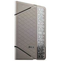 Белый Чехол iBacks VV Structure Leather Case для iPad mini 3 /2 - VV Structure Leather Case Nameplating Edition White