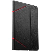 Черный чехол книга с тесненнием iBacks VV Structure Leather Case для iPad mini 3 /2 - VV Structure Leather Case Venezia Black