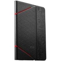 Черный чехол книга с тесненнием iBacks VV Structure Leather Case для iPad mini 3 /2 - VV Structure Leather Case Venezia Black