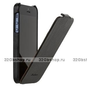 Чехол Fashion для iPhone 5 / 5s / SE с откидным верхом черный