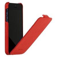 Чехол Fashion для iPhone 5 / 5s / SE с откидным верхом красный