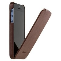Чехол Fashion для iPhone 5 / 5s / SE с откидным верхом коричневый