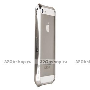 Бампер алюминиевый Deff CLEAVE 2 для iPhone 5 / 5s / SE серебристый