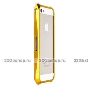 Алюминиевый бампер Deff CLEAVE для iPhone 5 / 5s / SE золотистый