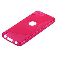 Силиконовый чехол для iPod touch 5 жесткий розовый