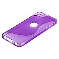 Силиконовый чехол для iPod touch 5 жесткий фиолетовый
