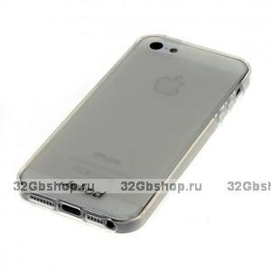Силиконовый чехол-накладка Jekod для iPhone 5 / 5s / SE прозрачный белый
