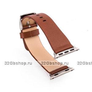 Коричневый кожаный ремешок Art Case для Apple Watch 38mm