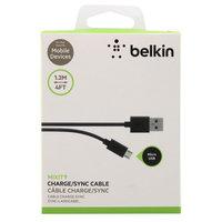 Черный кабель Belkin Micro-USB to USB ChargeSync Data Cable 1.2м