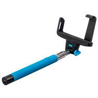 Монопод палка для селфи с беспроводной (Bluetooth) кнопкой спуска - Wireless Mobile Phone Selfie Monopod Z07-5 голубой