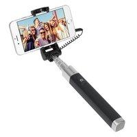 Монопод для селфи Deppa Selfie Pocket проводной D-45007 алюминиевый, 180-700мм Графитовый
