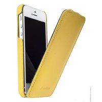 Кожаный чехол Melkco для iPhone 5c желтый - Leather Case Jacka Type (Yellow LC)