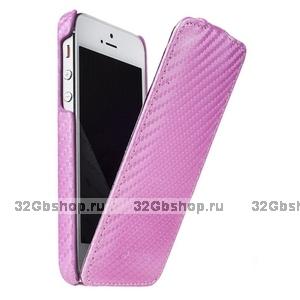 Чехол Melkco для iPhone 5 / 5s / SE Leather Case Jacka Type (розовый карбон)
