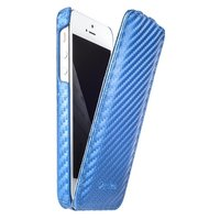 Чехол Melkco для iPhone 5 / 5s / SE Leather Case Jacka Type (голубой карбон)