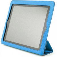 Голубой чехол книжка с рамкой Yoobao для iPad 4 / 3 / 2 - Yoobao iSmart Leather Case Blue