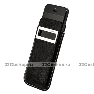 Чехол Melkco для iPhone 5 / 5s / SE Leather Case iCaller Type Black LC