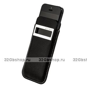 Чехол Melkco для iPhone 5 / 5s / SE Leather Case iCaller Type Black LC
