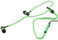 Зеленые наушники молния для iPhone 5s / 5 гарнитура с микрофоном и регулировкой громкости