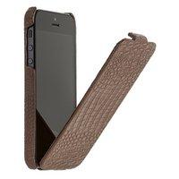 Кожаный чехол Borofone для iPhone 5c коричневый крокодил - Borofone Crocodile  flip Leather case Brown