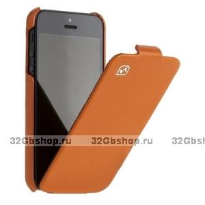 Кожаный чехол HOCO для iPhone 5 / 5s / SE - HOCO Duke Leather Case orange