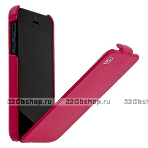 Чехол HOCO для iPhone 5 / 5s / SE - HOCO Duke Leather Case Rose Red