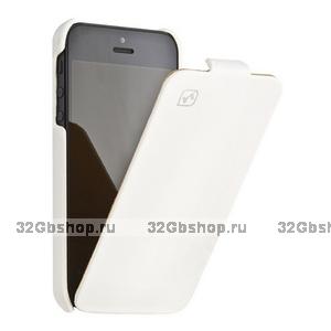 Кожаный чехол HOCO для iPhone 5s / SE / 5 - HOCO Duke Leather Case white