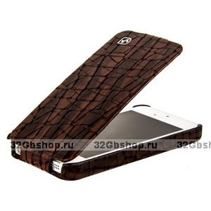 Кожаный чехол HOCO для iPhone 5s / SE / 5 - HOCO Knight Leather Case Coffee
