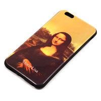 Черный силиконовый чехол для iPhone 6s Plus / 6 Plus с рисунком Мона Лиза