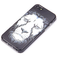 Черный силиконовый чехол накладка для iPhone 5s / SE / 5 лев