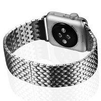 Ремешок из нержавеющей стали i-Carer для Apple Watch 42мм - i-Carer Armor Steel Watchband Series Silver