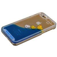 Прозрачный пластиковый чехол накладка для iPhone 6s / 6 плавающие уточки